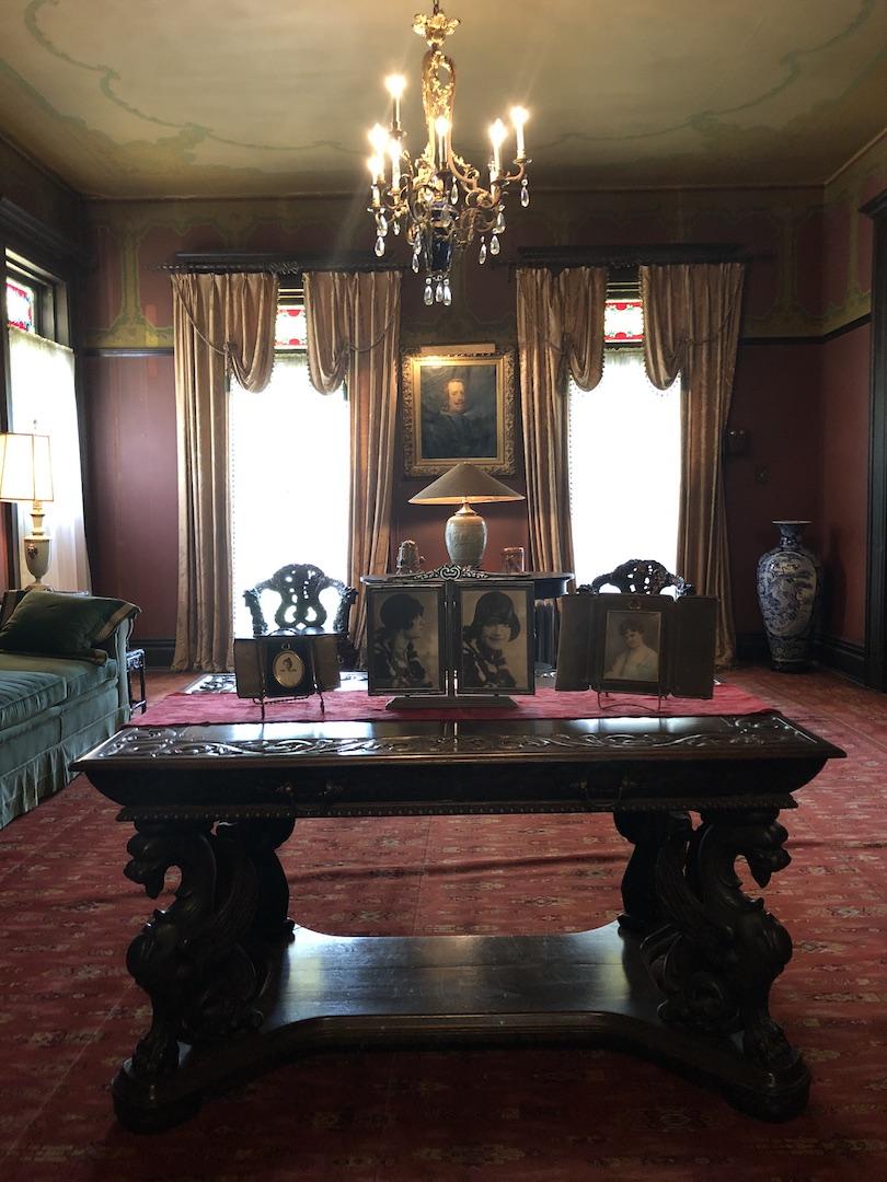 Inside Overholser Mansion - photo by Dennis Spielman