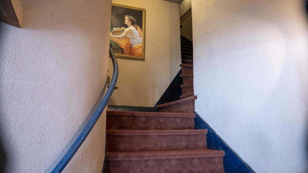 A stairway inside Constantine Theater - photo by Dennis Spielman